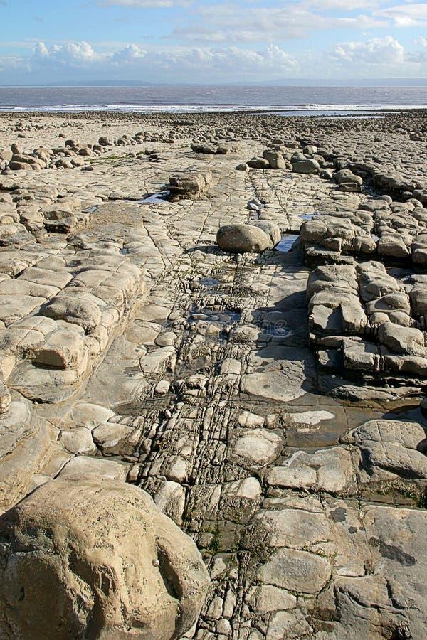 пляж 4 утесистый Стоковые Фото