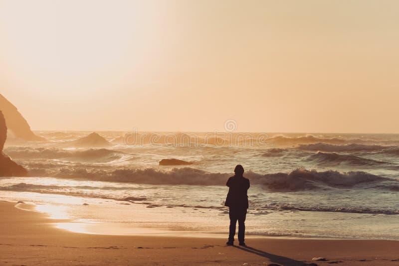 Пляж Adraga стоковое изображение rf