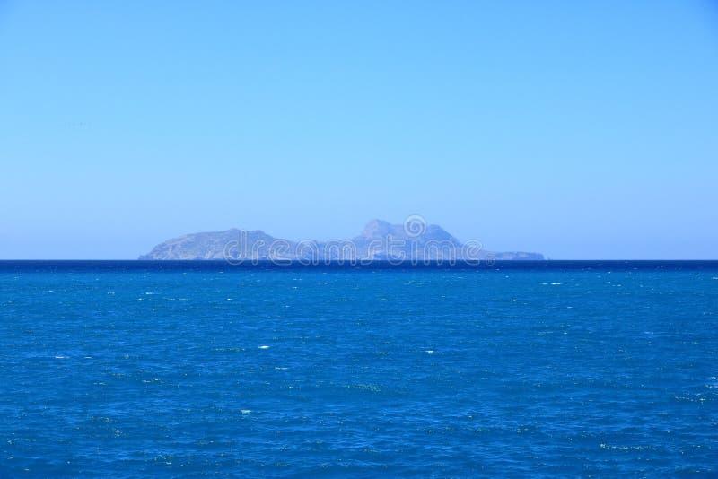 Пляж Agia Galini в острове Крита, Греции стоковые фотографии rf