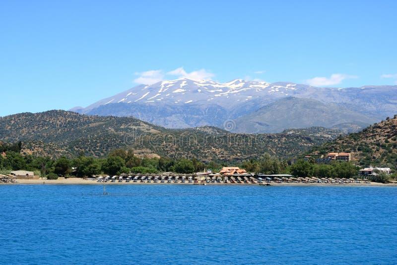 Пляж Agia Galini в острове Крита, Греции стоковая фотография rf