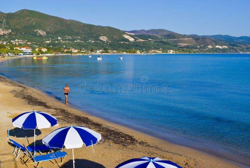 Пляж Alikanas, Закинф, Греция стоковая фотография