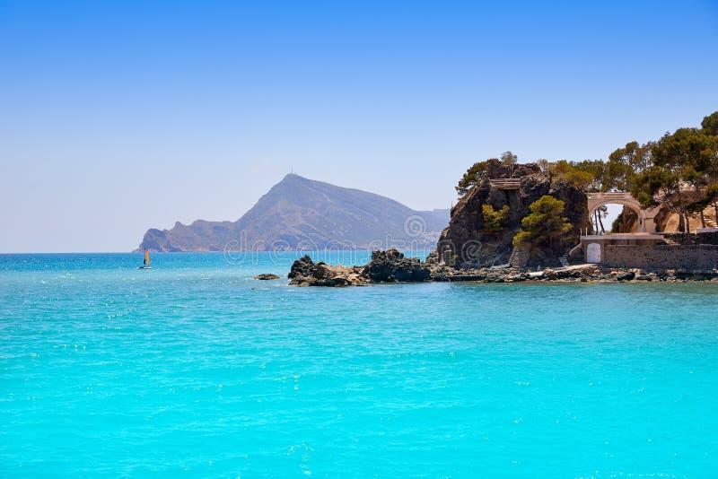 Пляж Altea в Аликанте Playa de L Olla стоковое изображение rf