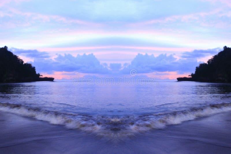 пляж anyer стоковая фотография