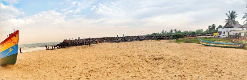 Пляж Auroville стоковое изображение rf