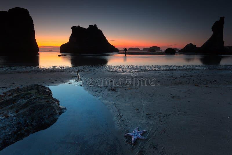 пляж bandon стоковое фото