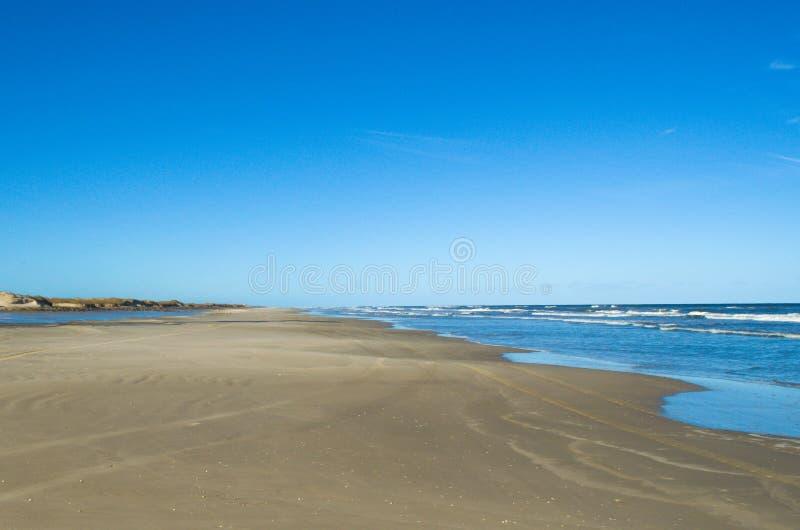 Пляж Bojuru, дезертированный пляж стоковые фото