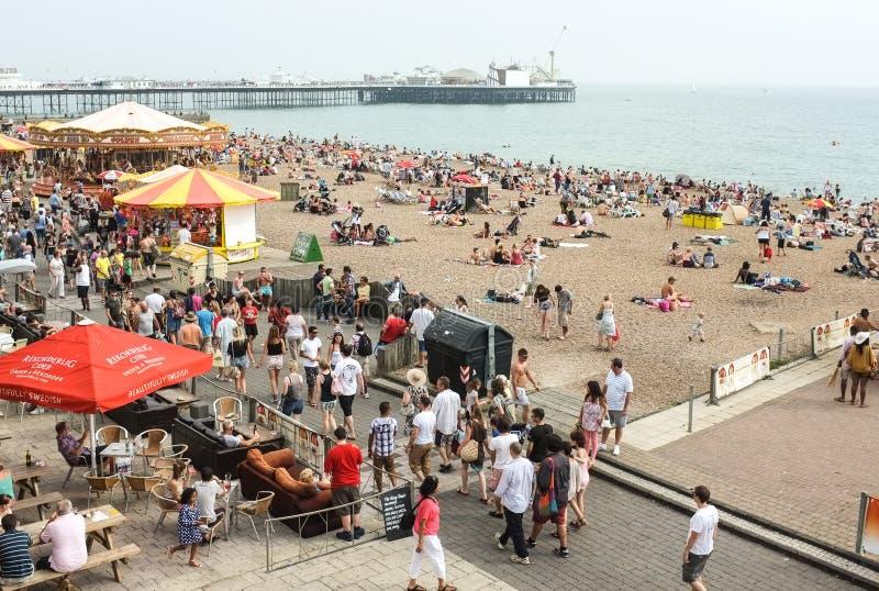 Пляж Brighton и пристань, Англия стоковые изображения rf