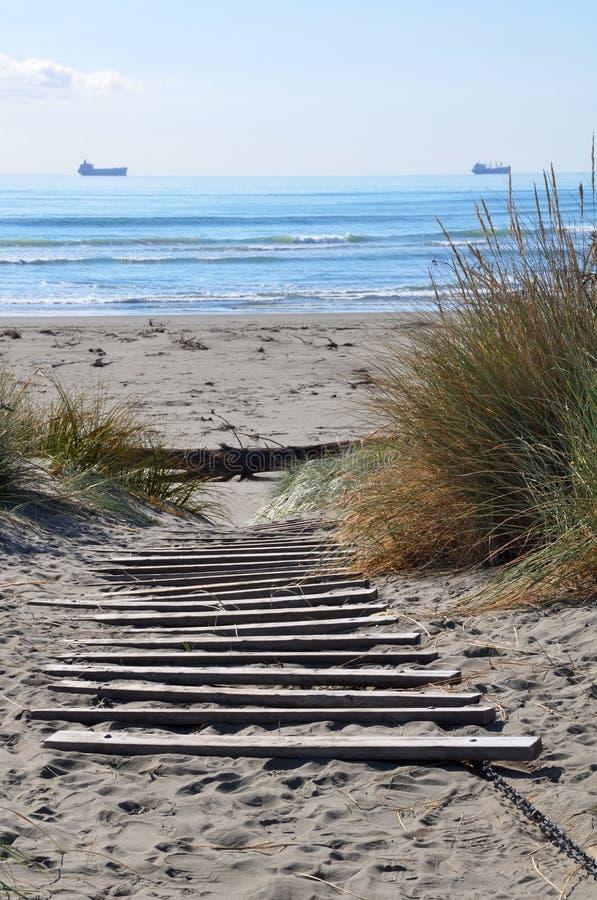 пляж brighton christchurch Новая Зеландия стоковое фото rf