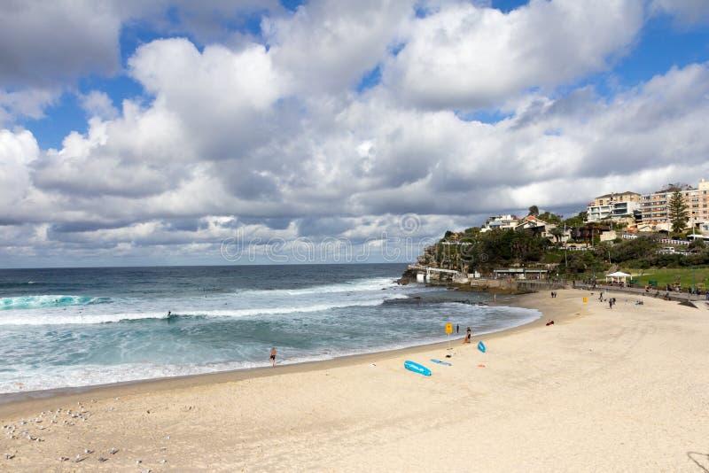 Пляж Bronte, восточные пригороды, Сидней, Австралия стоковое фото