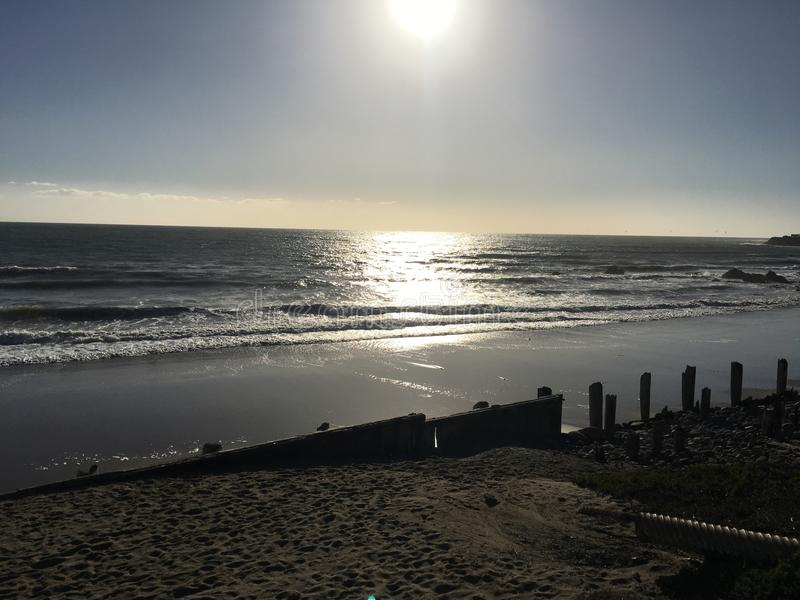 пляж california стоковые изображения rf