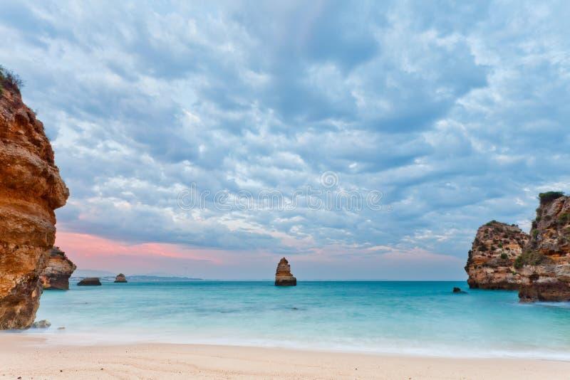 пляж camilo lagos Португалия algarve стоковые фотографии rf