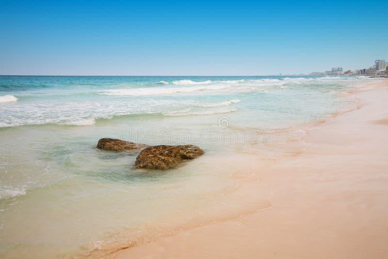 пляж cancun Мексика стоковое изображение rf
