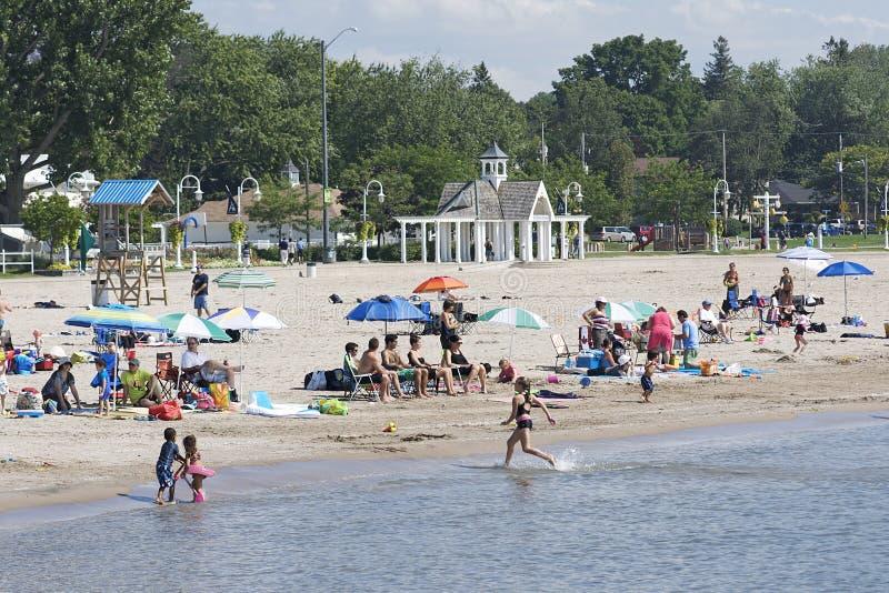 пляж cobourg ontario стоковое изображение rf