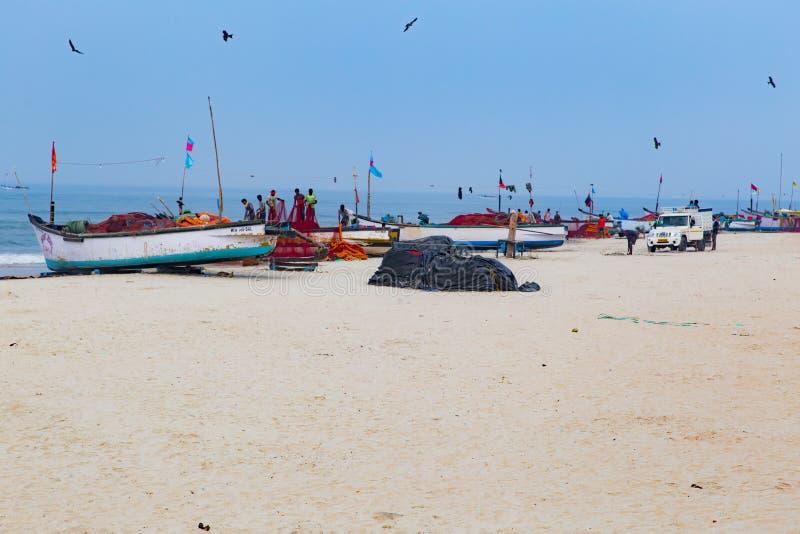 Пляж Colva, Goa, Индия стоковое изображение