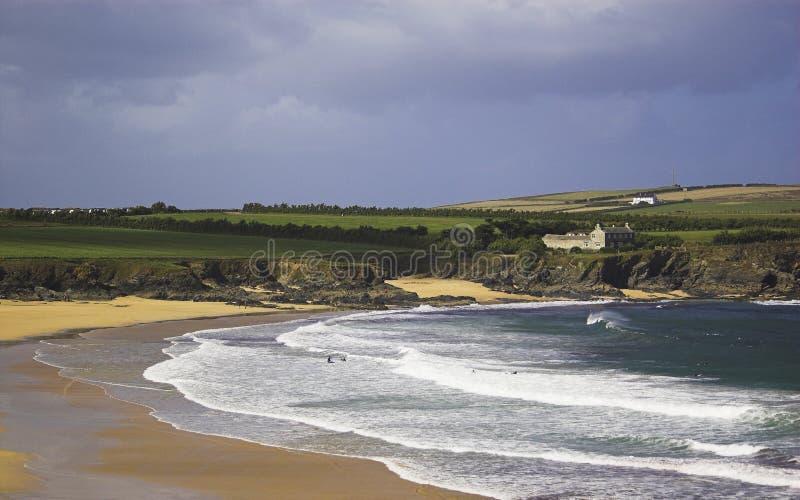 пляж cornwall стоковое изображение