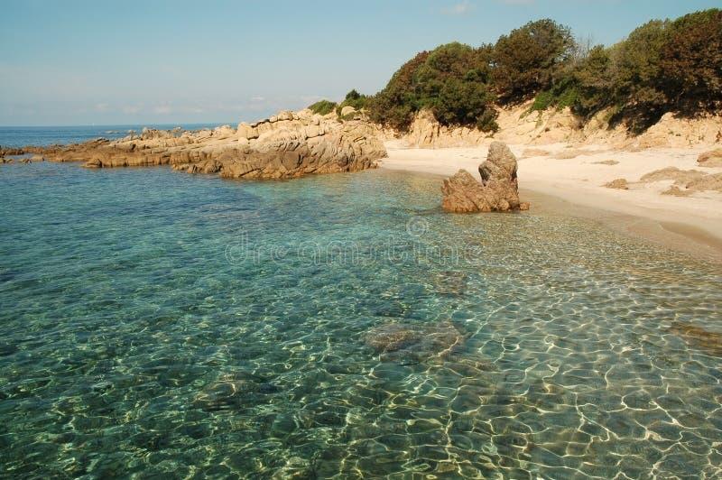 Пляж d'Orzu Cala, Корсика стоковое фото rf