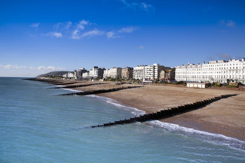 пляж eastbourne стоковое изображение