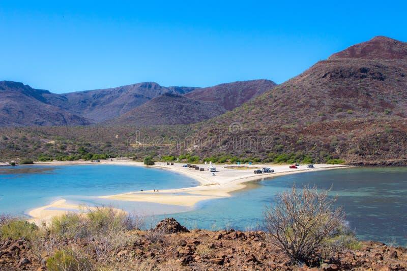 Пляж El Requeson, Mulege стоковое изображение rf