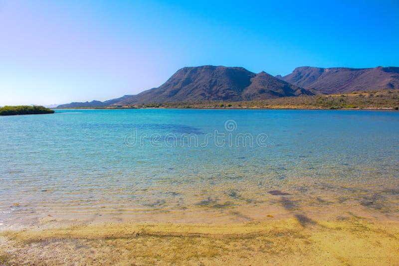 Пляж El Requeson, Mulege стоковое фото