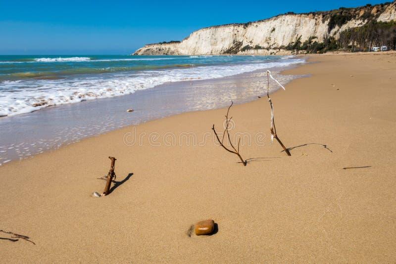 Пляж Eraclea Minoa стоковое изображение