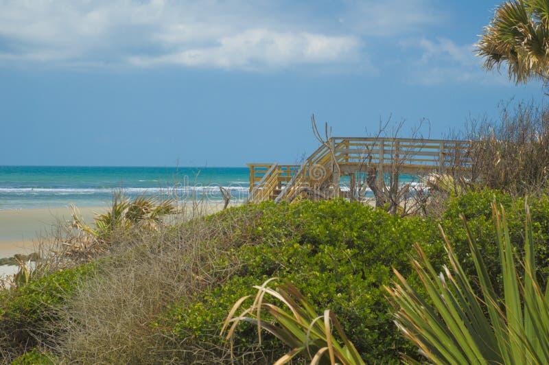 пляж florida augustine около st стоковое фото