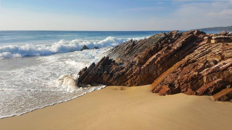 Пляж Gippsland Виктория Австралия карьера стоковая фотография rf
