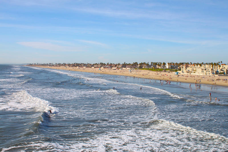 пляж huntington стоковая фотография rf