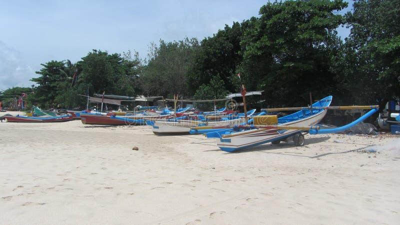 Пляж Jimbaran, остров Бали, индонезийский стоковые изображения