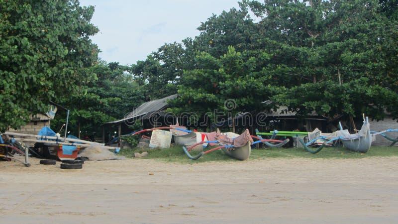 Пляж Jimbaran, остров Бали, индонезийский стоковые фотографии rf