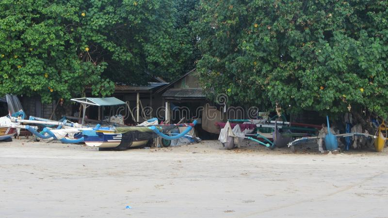 Пляж Jimbaran, остров Бали, индонезийский стоковое изображение
