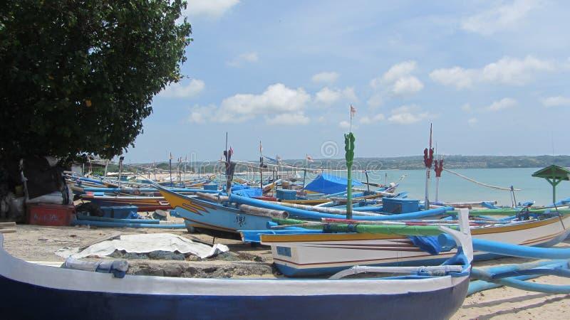 Пляж Jimbaran, остров Бали, индонезийский стоковое фото rf