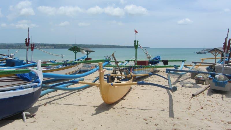 Пляж Jimbaran, остров Бали, индонезийский стоковое фото