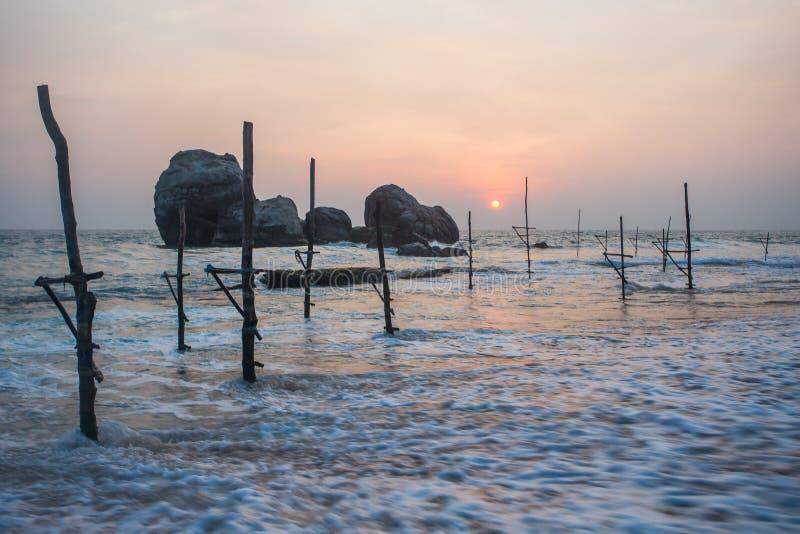 Пляж Koggala, Шри-Ланка стоковое фото rf