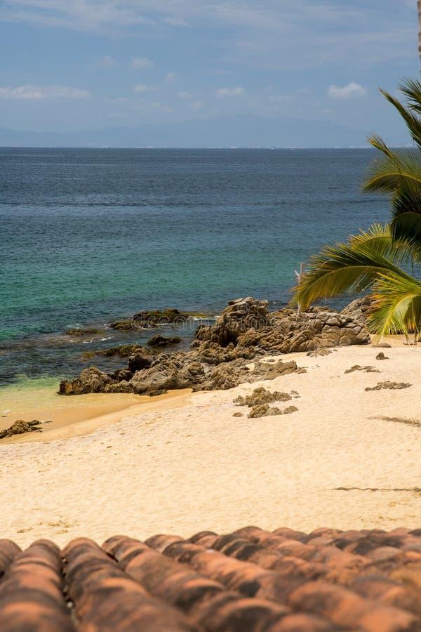 Пляж Las Caletas приключений Vallarta стоковое фото rf
