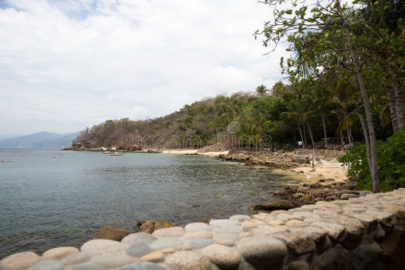 Пляж Las Caletas приключений Vallarta стоковое изображение