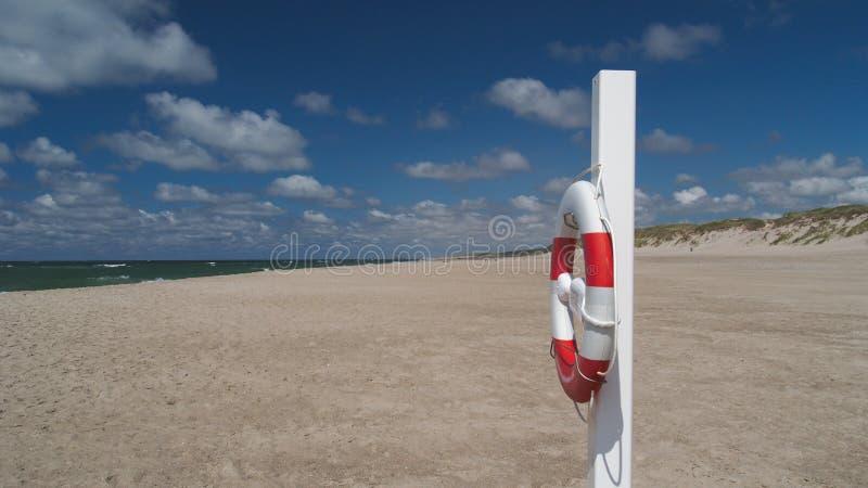 пляж lifebuoy стоковая фотография rf