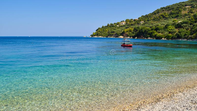 Пляж Marathias, остров Закинфа, Греция стоковые изображения rf