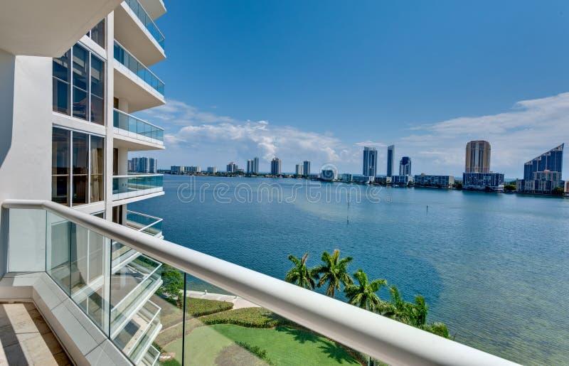 пляж miami балкона стоковое изображение
