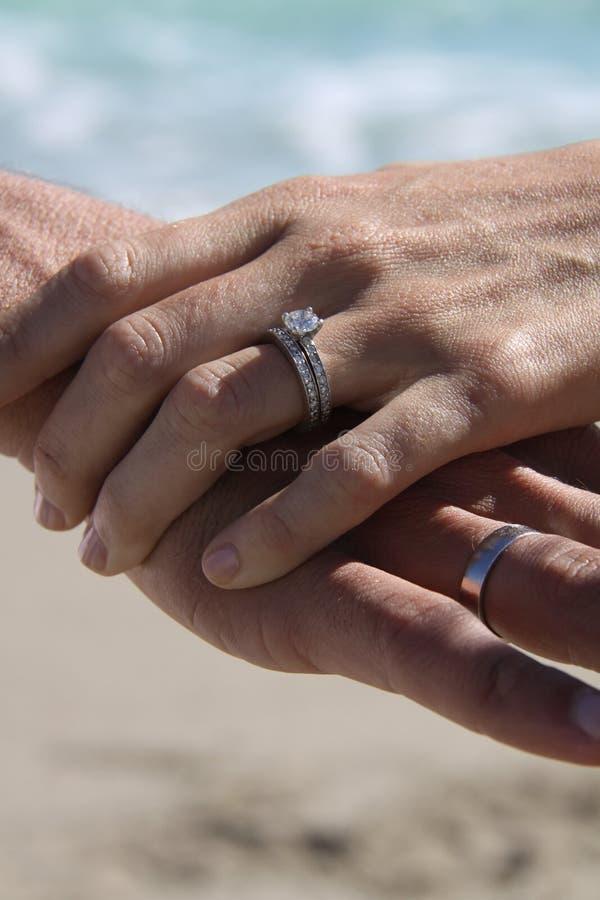 пляж miami звенит венчание стоковые изображения rf
