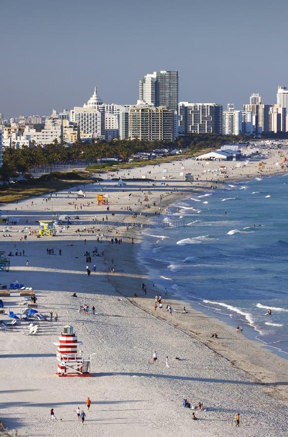 пляж miami южный стоковые изображения rf