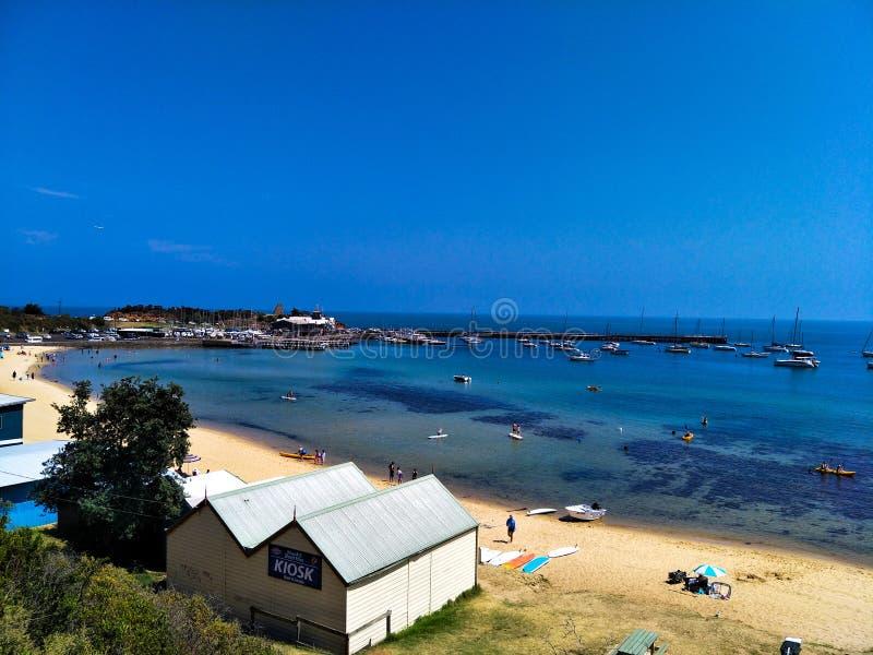 Пляж Mornington стоковые изображения