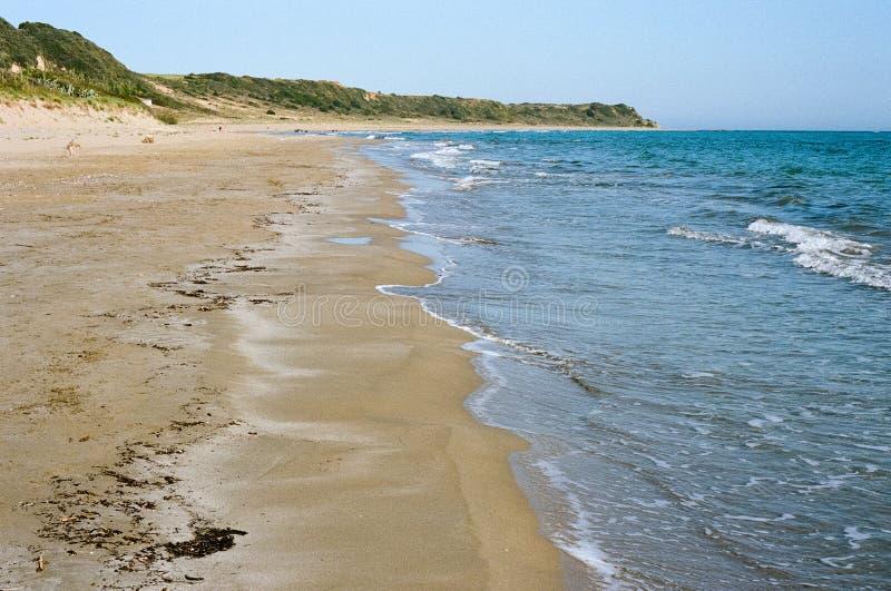 Пляж Mounda в Kefalonia, Греции стоковое фото rf