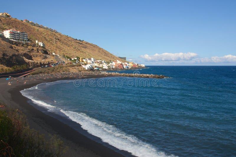Пляж Nea Ла на острове Тенерифе, Канарских островов, Испании стоковые изображения rf