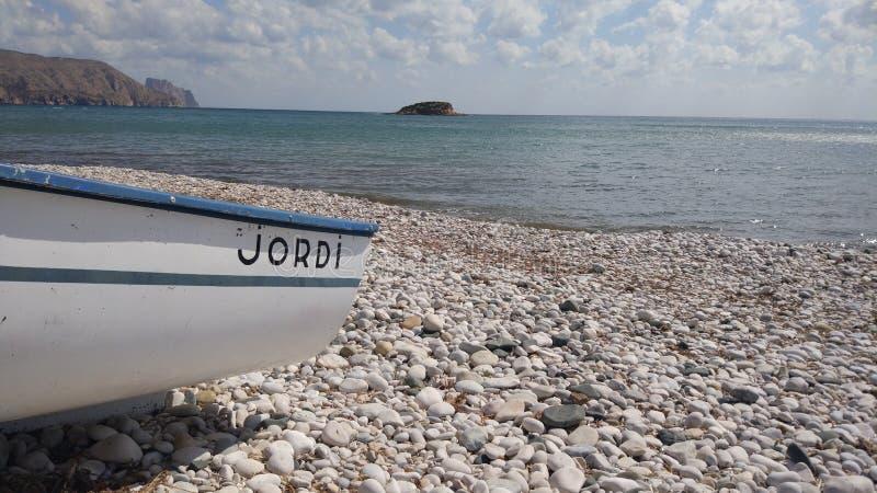 Пляж olla altea Испании стоковое изображение rf