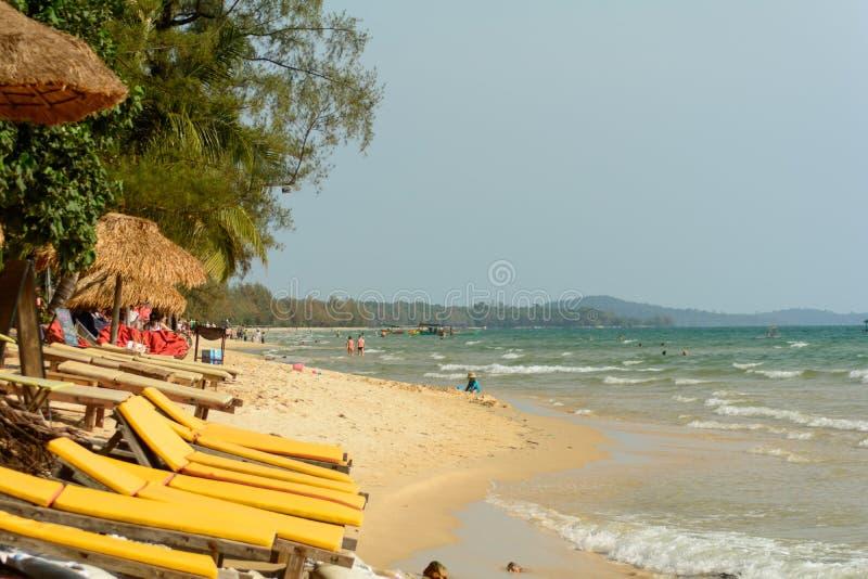 Пляж Otres, Sihanoukville, Камбоджа стоковые фотографии rf