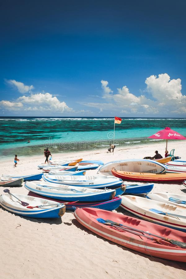 Пляж Pandawa в Бали Индонезии стоковая фотография rf