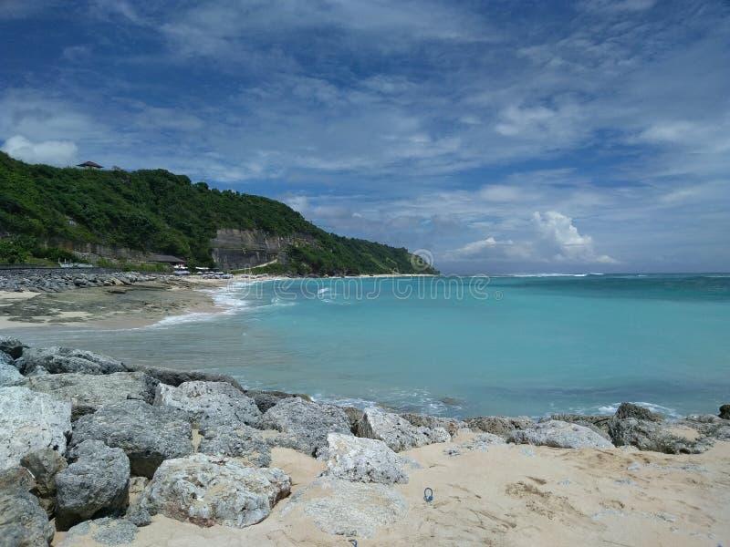 Пляж Pandawa в Бали стоковое фото rf