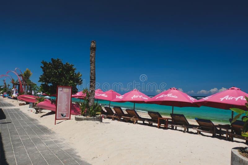 Пляж Pantai Pendawa в Бали, Индонезии стоковая фотография rf