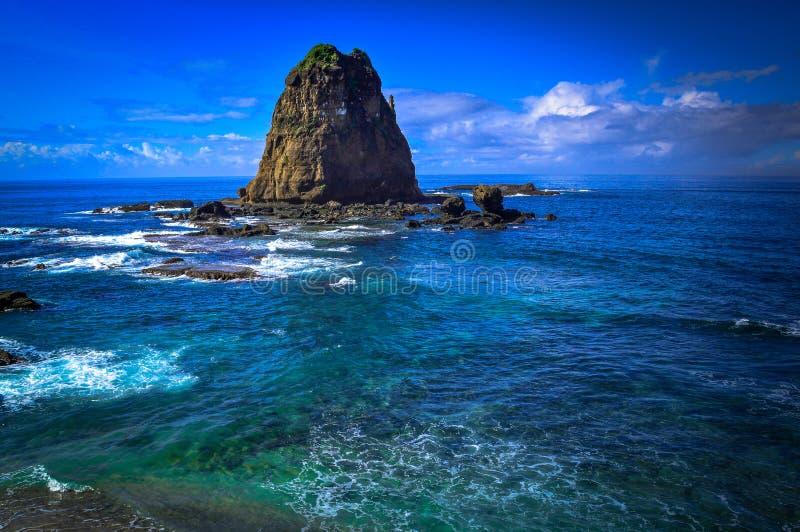 Пляж Papuma стоковое изображение