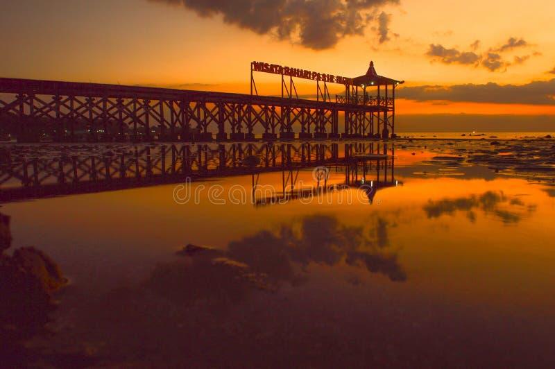 Пляж Pasir Putih Situbondo стоковая фотография rf
